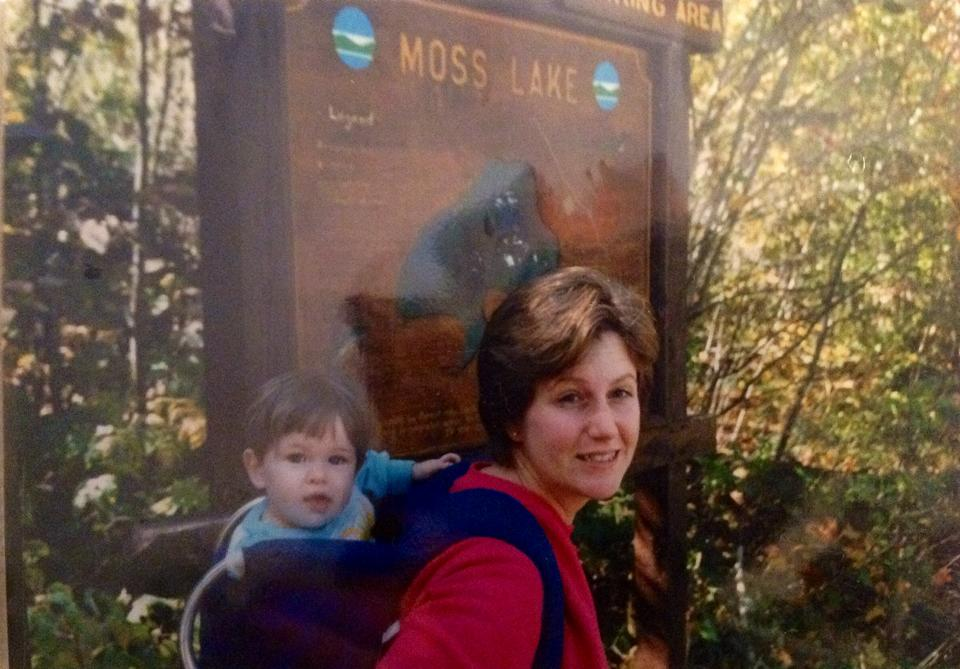 Hiking on my mom's back in the Adirondacks as a baby!